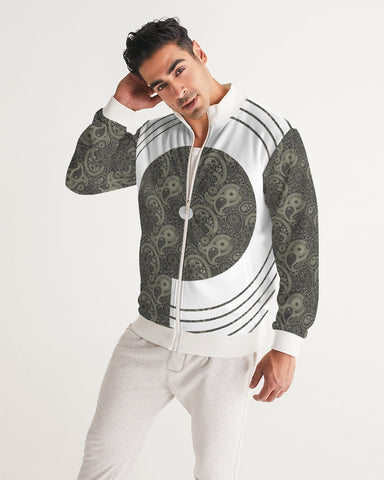 Grey Paisley Men's Track Jacket
