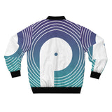 Polaris AOP Unisex Bomber Jacket- Blue Gradient