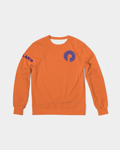 Men's Classic French Terry Crewneck Pullover-Orange