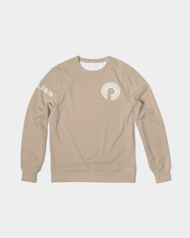 Men's Classic French Terry Crewneck Pullover-Khaki