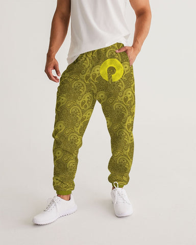 Men's Track Pants-Paisley Gold