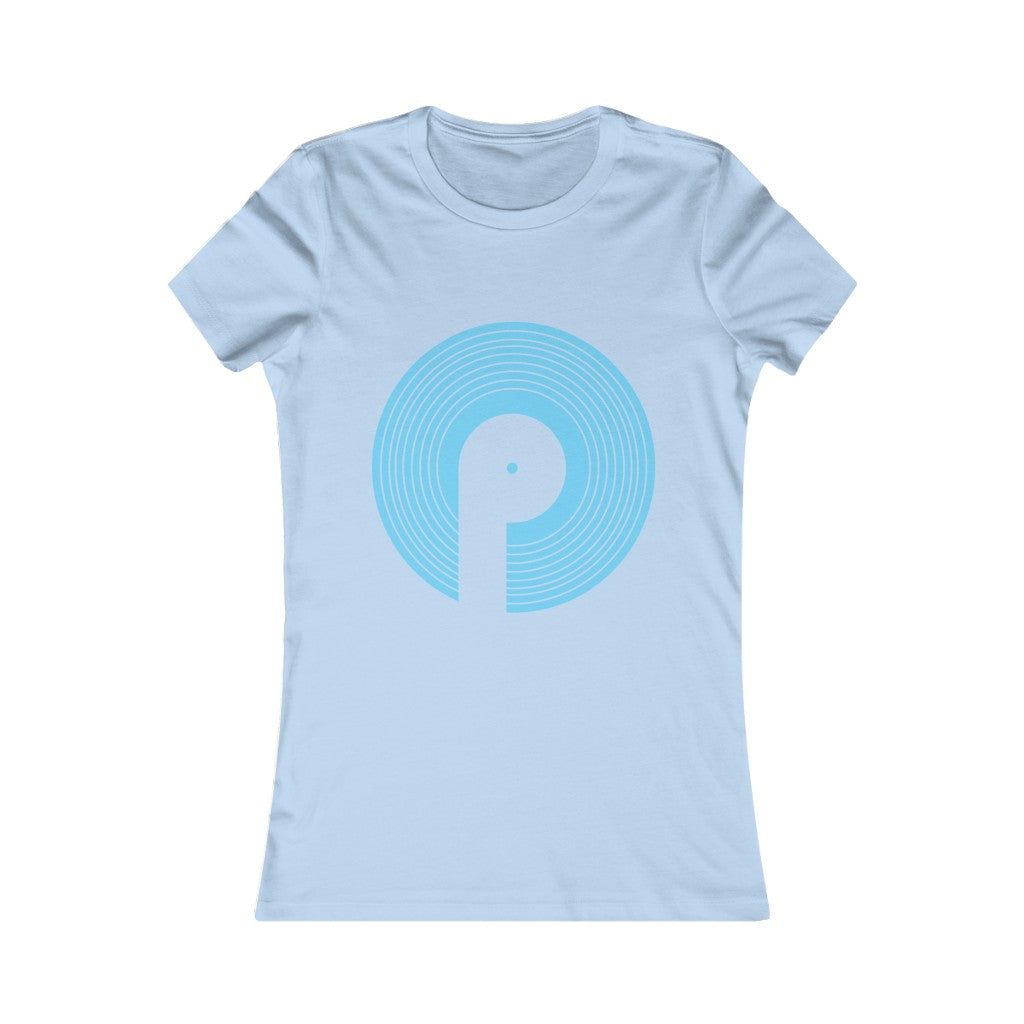 Polaris Women's Favorite Tee- Light Blue Logo