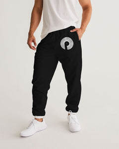 Men's Track Pants-Black/White
