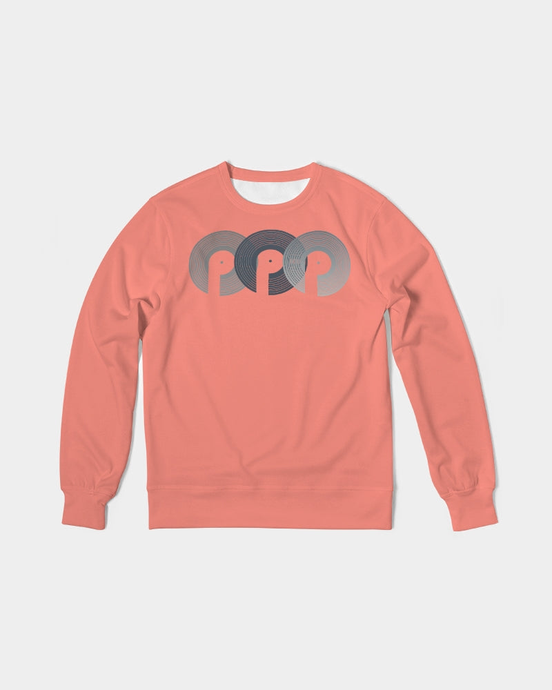 3P'S Men's Classic French Terry Crewneck Pullover-Raw Salmon