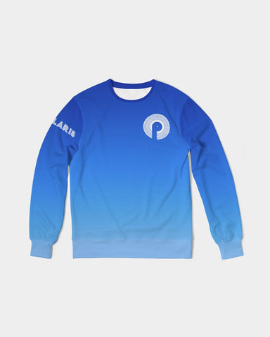 Men's Classic French Terry Crewneck Pullover-Blue Gradient