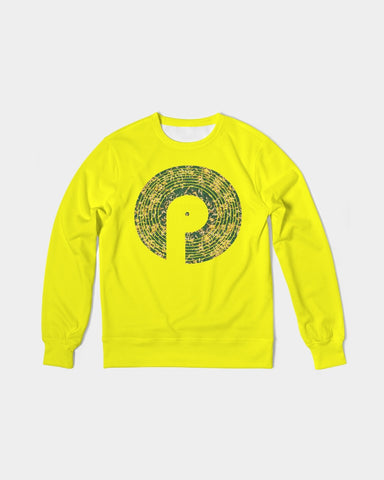 Men's Classic French Terry Crewneck Pullover-Yellow
