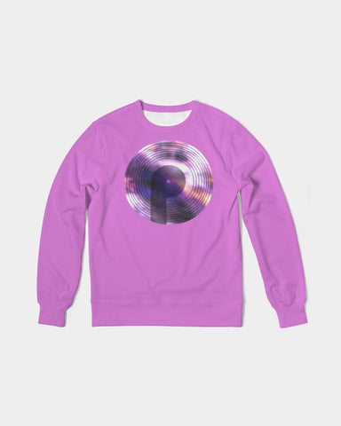 Men's Classic French Terry Crewneck Pullover-Orchid Galaxy