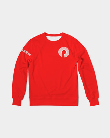 Men's Classic French Terry Crewneck Pullover-Red