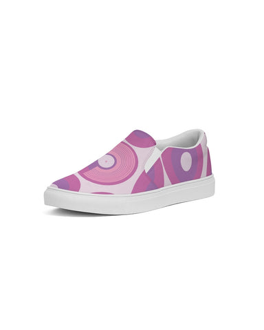 Polaris Women's Slip-On Canvas Shoe- Pink Circles
