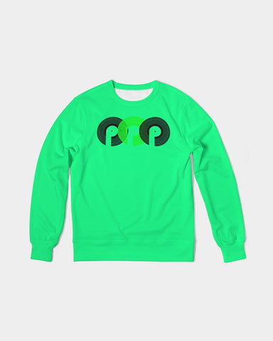 3P'S Men's Classic French Terry Crewneck Pullover-Spring Green