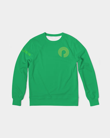 Men's Classic French Terry Crewneck Pullover-Green
