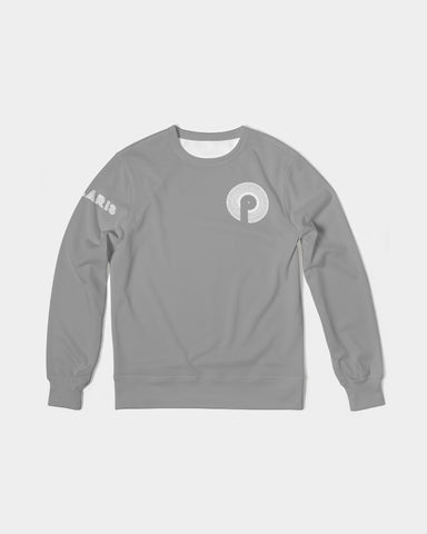 Men's Classic French Terry Crewneck Pullover-Grey