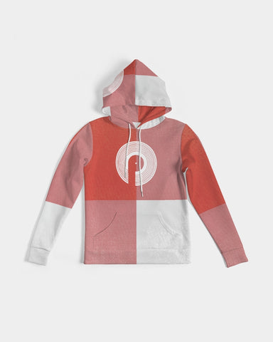Lux-3 Women's Hoodie- Red Squares