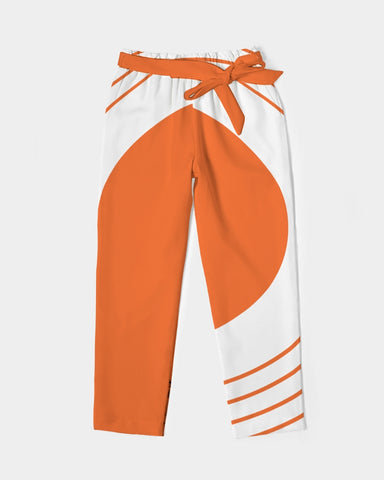 Women's Belted Tapered Pants-Pumpkin Spice