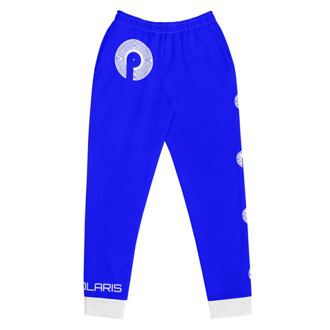 Polaris Needle Drop Women's Joggers- Blue/White