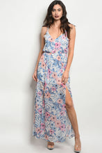 Load image into Gallery viewer, Off White Floral Maxi Dress