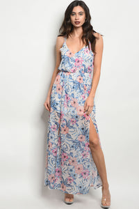 Off White Floral Maxi Dress