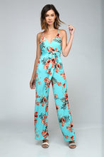 Load image into Gallery viewer, Sleeveless V-Neck Floral Jumpsuit