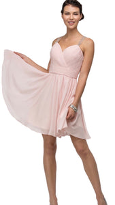 Finely Tucked Sweetheart Corset Dress