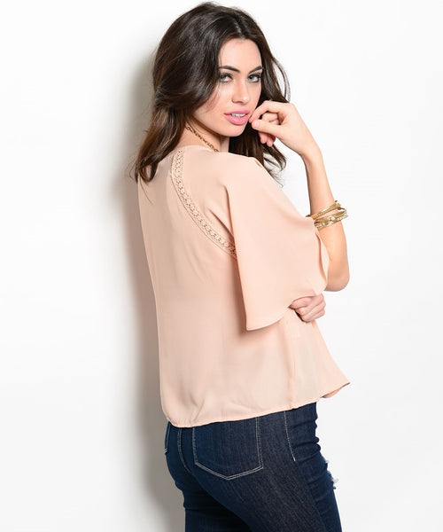 Blush Floral Patterned Top