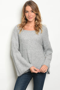 Silver Bell Sleeve Sweater