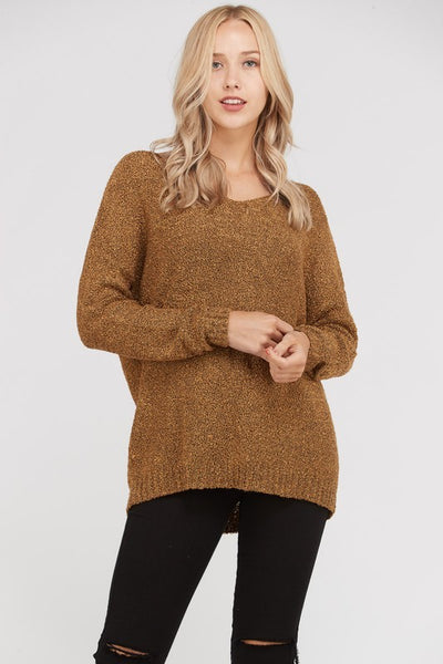 Mustard Long Sleeve Knit Sweater