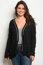 Load image into Gallery viewer, Open Front Knit Plus Size Cardigan