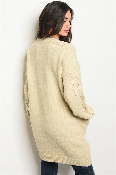 Soft Cozy Oatmeal Sweater