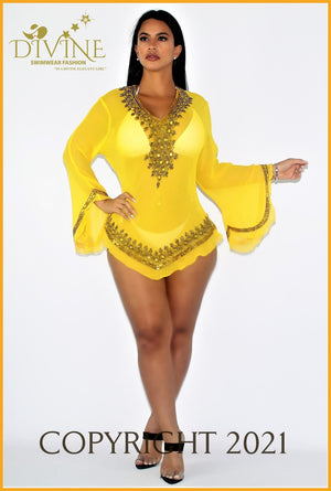 Dubai Blouse (Yellow) Cover Ups