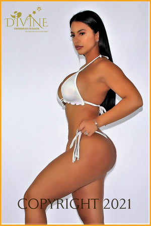 White Beach Bikini Set (Made In Colombia) Small /