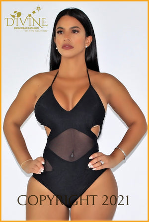 Whisper Monokini One Piece Small / Black Monokinis