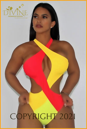 Color Of Life Monokini Small / Multicolored Monokinis