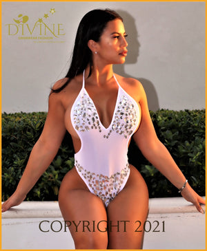 Diamond Sea Monokini (White) Large / White Monokinis