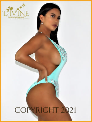 Diamond Sea Monokini (Aqua) Monokinis