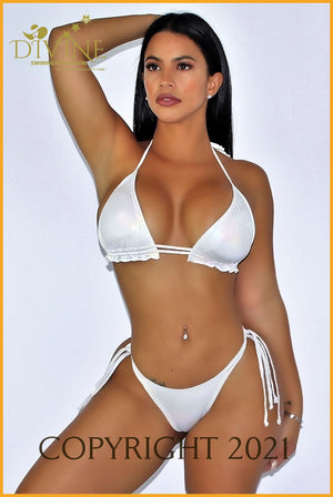 White Beach Bikini Set (Made In Colombia) Medium /