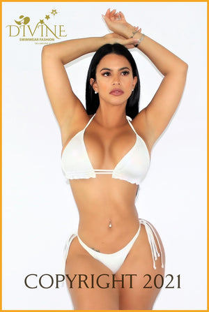 White Beach Bikini Set (Made In Colombia) Large /