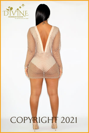 Monaco Dress (Beige) Cover Ups