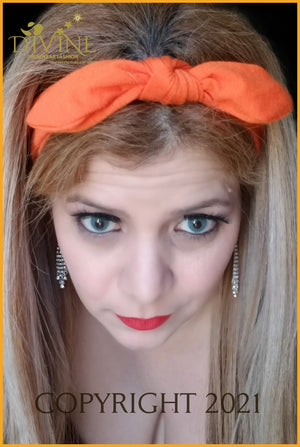 Head Wraps Hair Band (Orange Orange Accessories