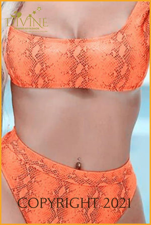 2020 Process Bikini Set(Orange) Set