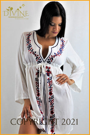 Flower Sweet Tunic One Size / White Cover Ups