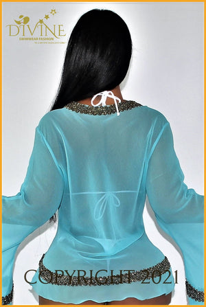 Dubai Blouse (Royal Blue) Cover Ups