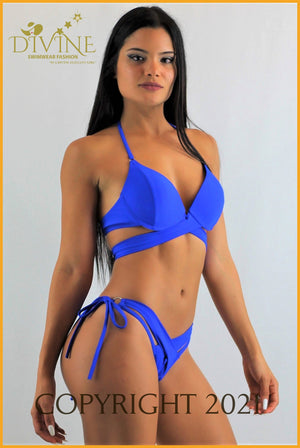 Costa Azul Bikini Set (Blue) Medium / Royal Blue