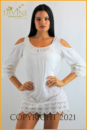 Princes Tunic Small / White Cover Ups