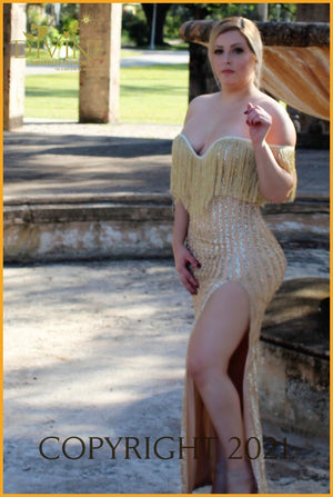Le Reve Dress Small / Gold Trending