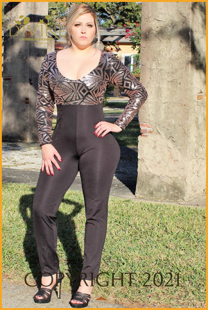 Italy Jumpsuit Small / Black Trending