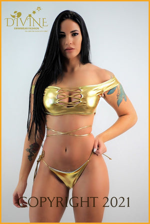Golden Bay Bikini Set Small / Gold