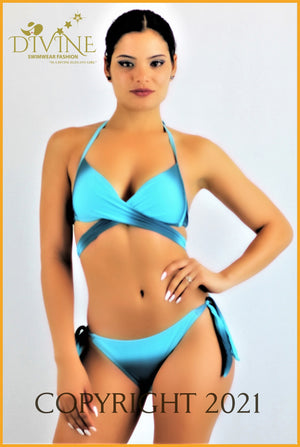 Rainbow Bikini Set (Pink And Purple) Small / Royal Blue & Aqua