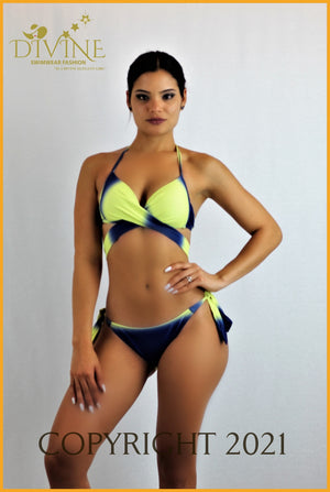 Rainbow Bikini Set (Pink And Purple) Large / Yellow & Royal Blue