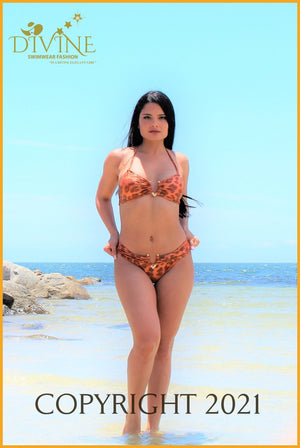 Music Bikini Set (Orange)