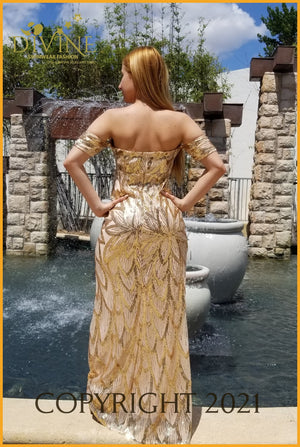 Cinderella Dress Small / Gold Trending